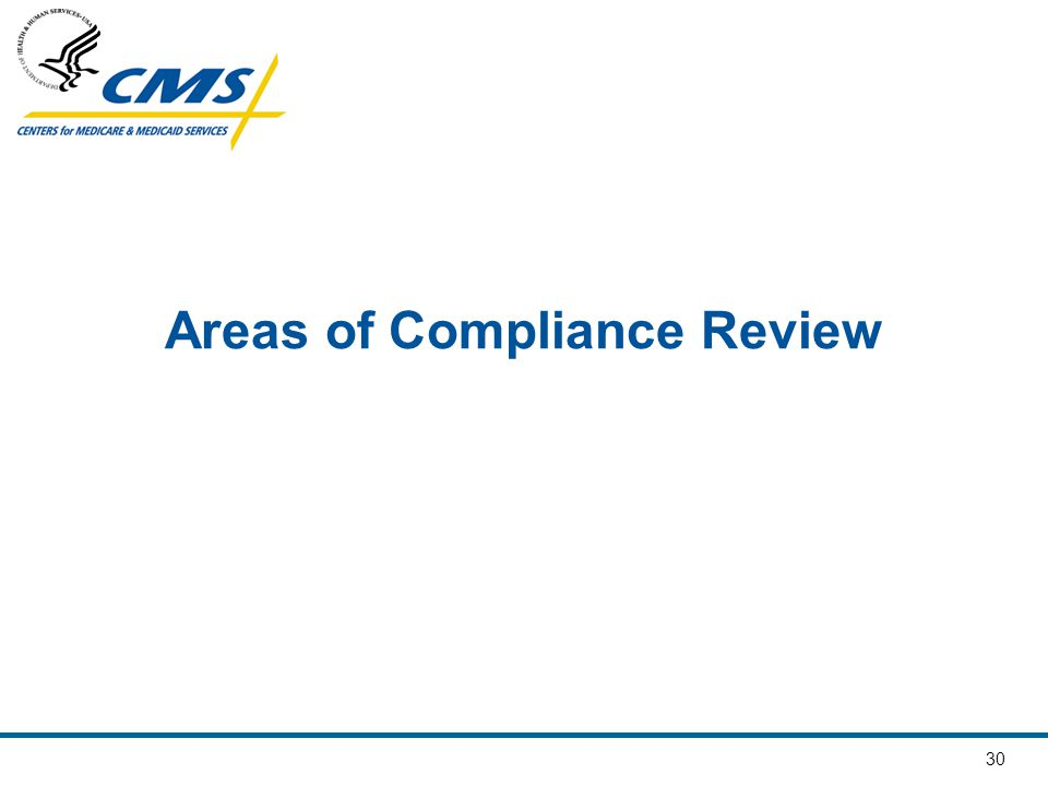 30 Areas of Compliance Review