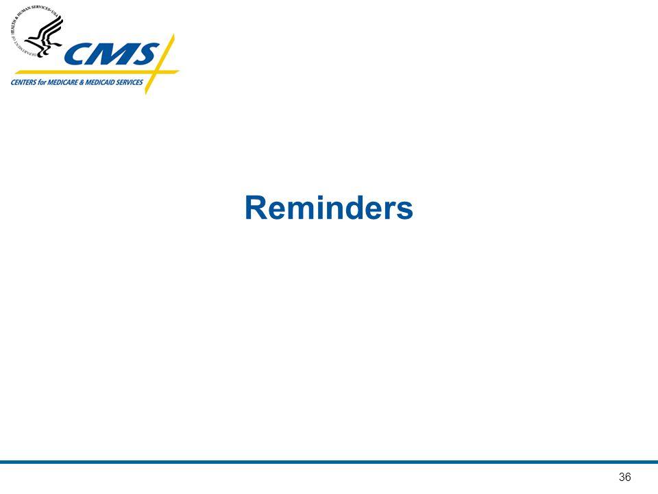 36 Reminders