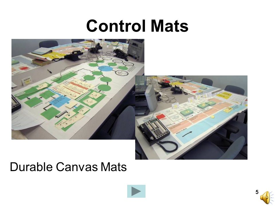 5 Control Mats Durable Canvas Mats