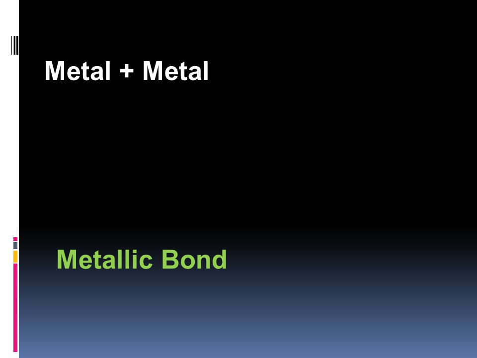 Metal + Metal Metallic Bond