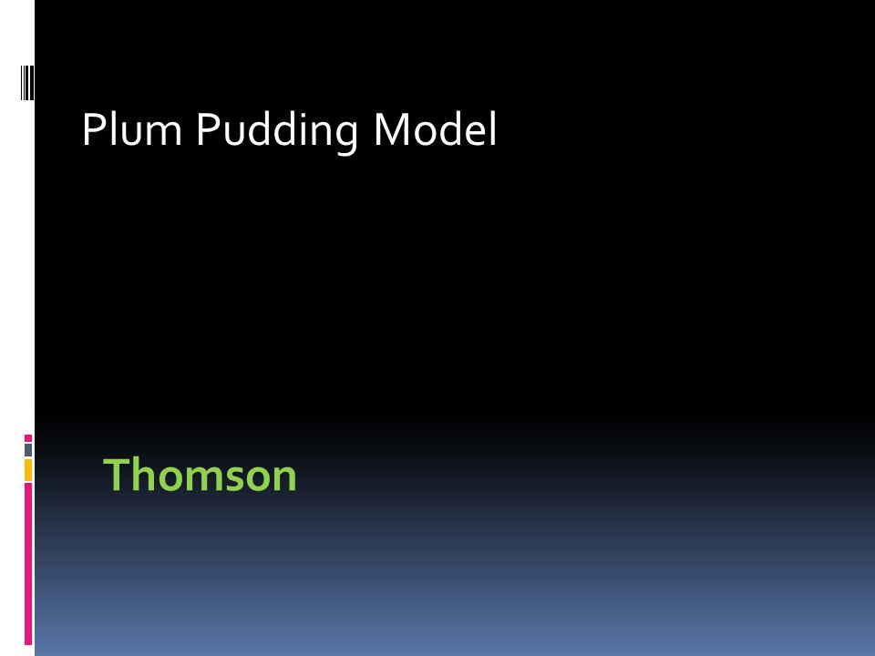 Plum Pudding Model Thomson