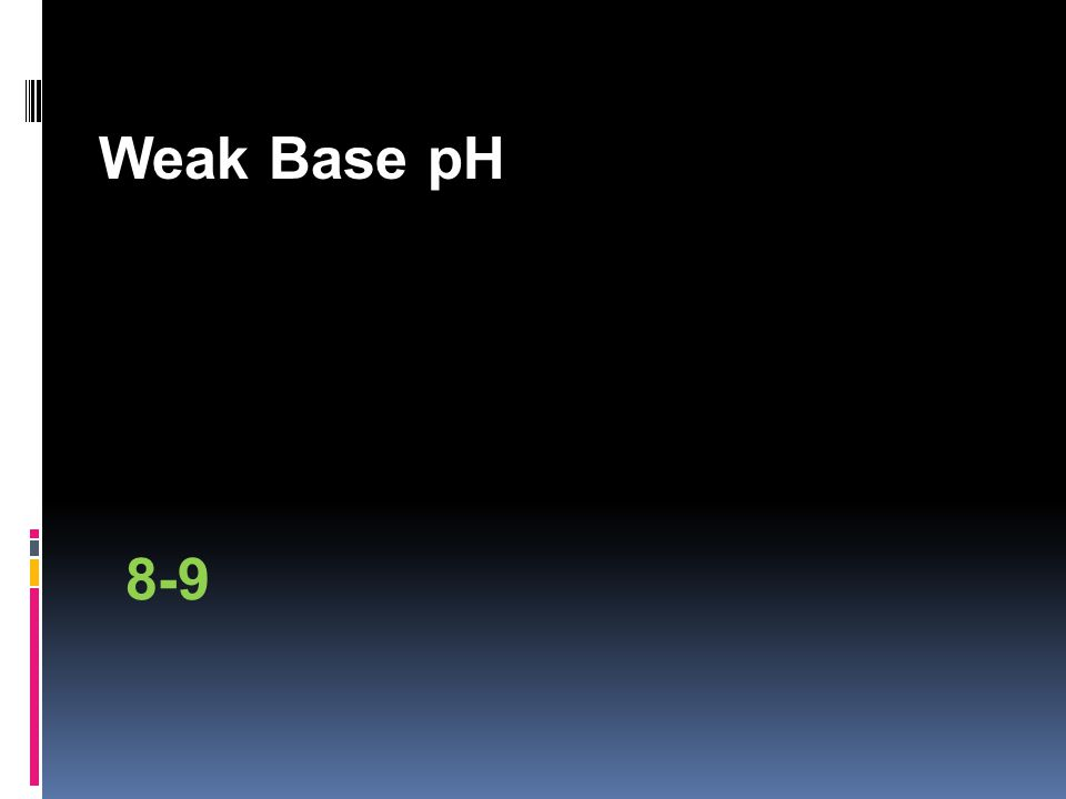 Weak Base pH 8-9