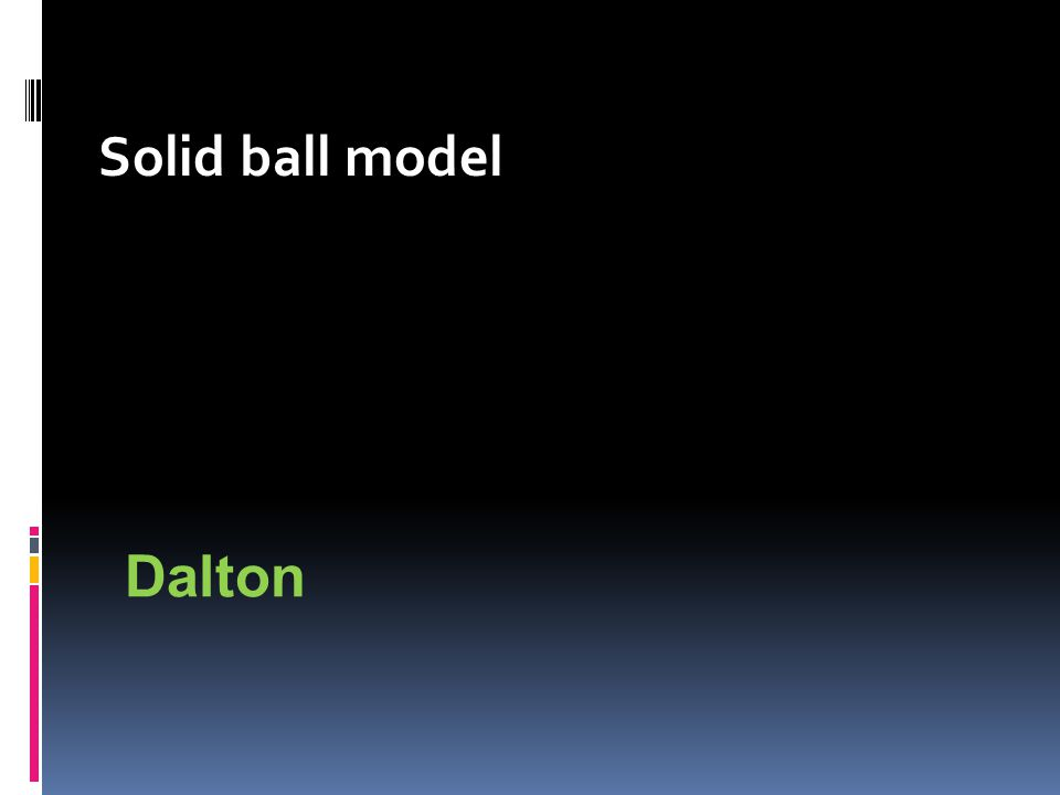 Solid ball model Dalton