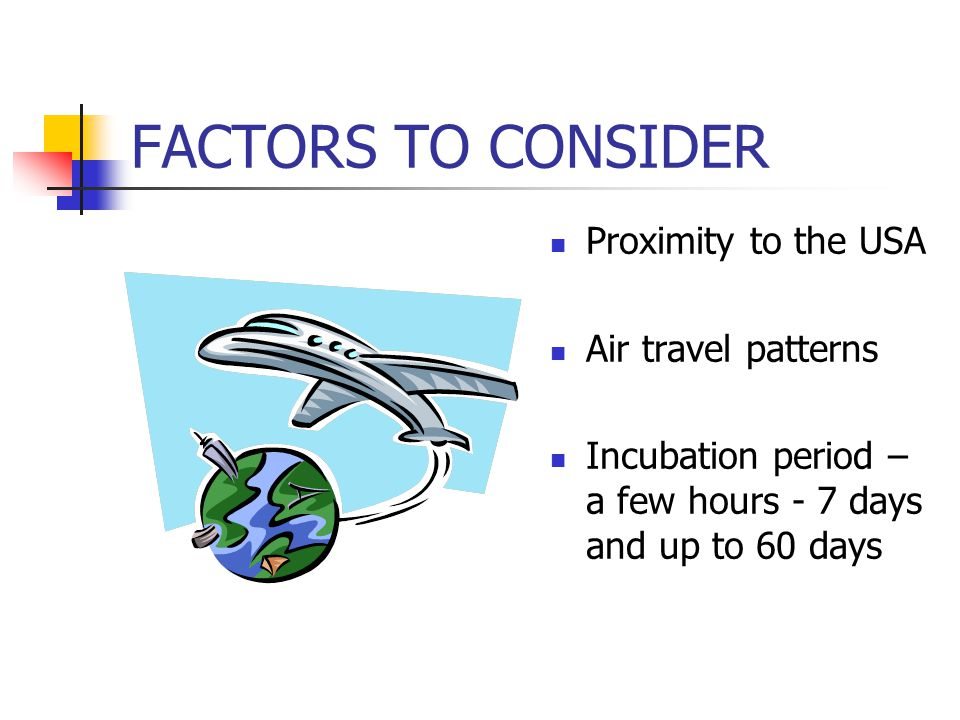 Scenarios for humans Individual exposure Contaminated animals, meat or animal products Contaminated mail Mass exposure Aerosolized particles