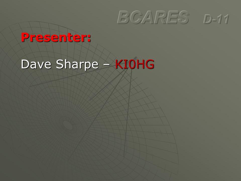 Presenter: Dave Sharpe – KI0HG