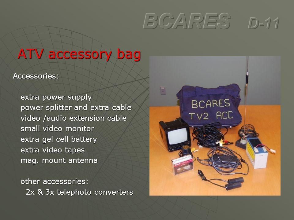 ATV accessory bag ATV accessory bagAccessories: extra power supply extra power supply power splitter and extra cable power splitter and extra cable vi