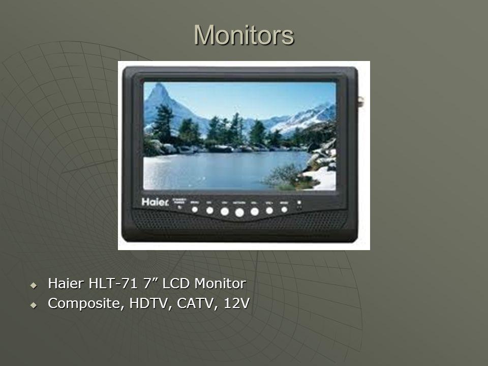 """Monitors  Haier HLT-71 7"""" LCD Monitor  Composite, HDTV, CATV, 12V"""