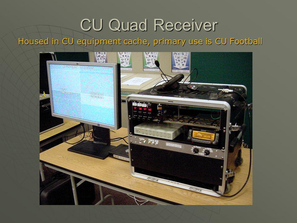 CU Quad Receiver Housed in CU equipment cache, primary use is CU Football