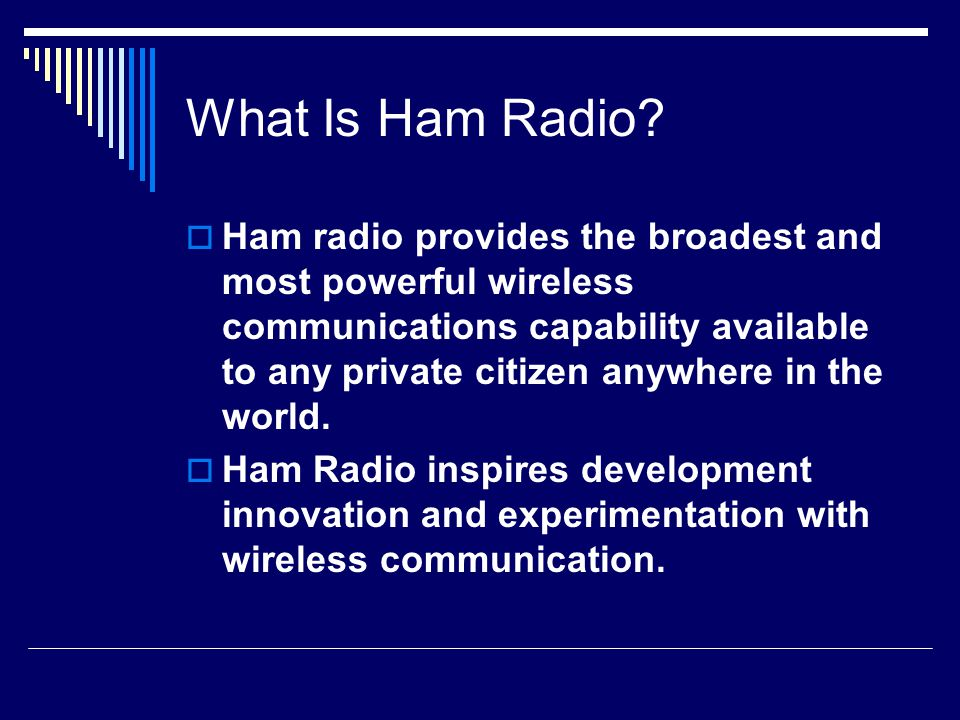 What Is Ham Radio.