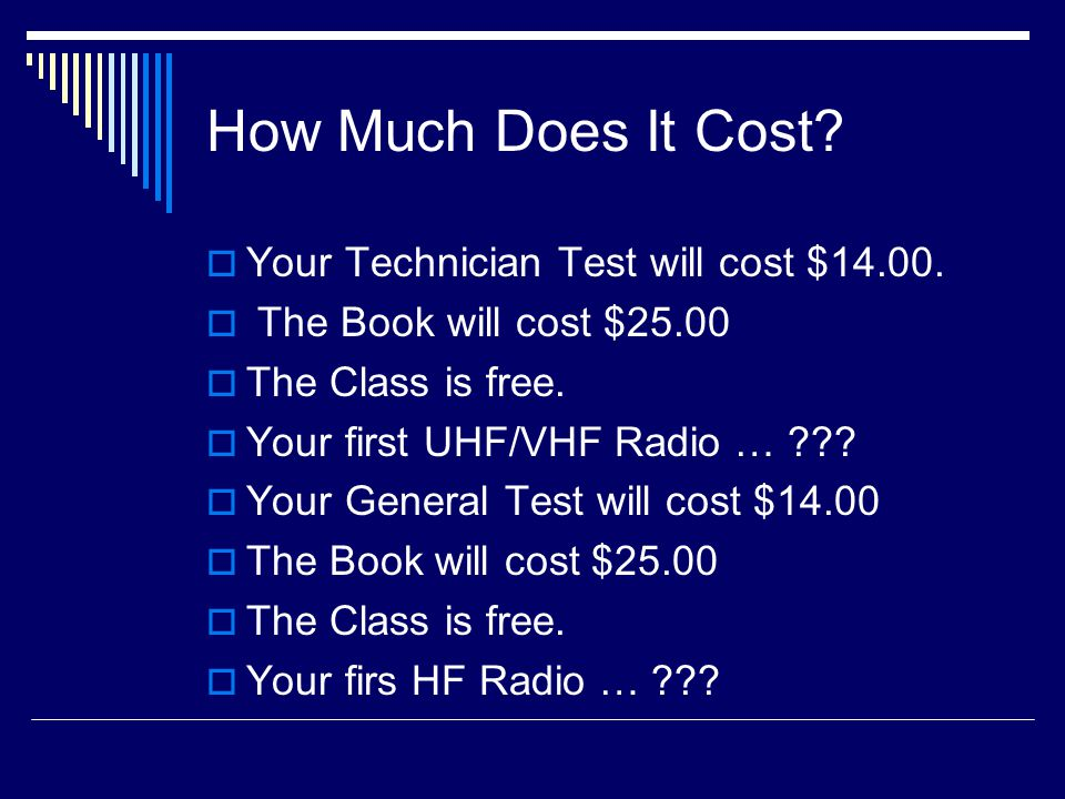How Much Does It Cost.  Your Technician Test will cost $14.00.
