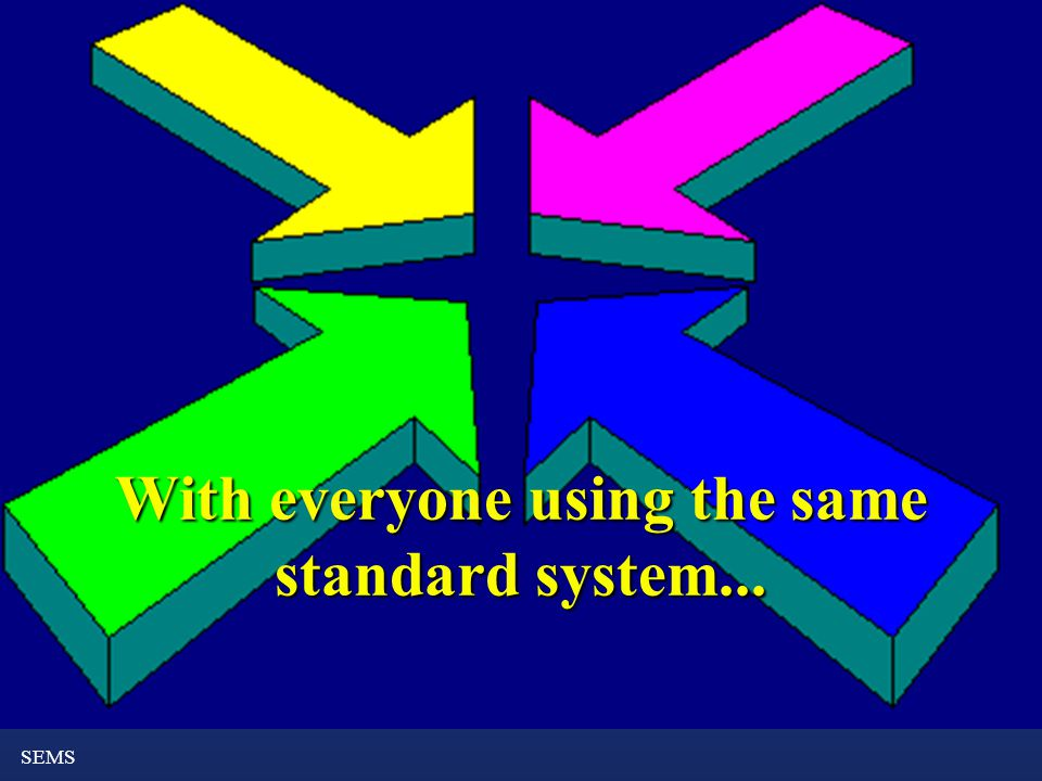 SEMS With everyone using the same standard system...