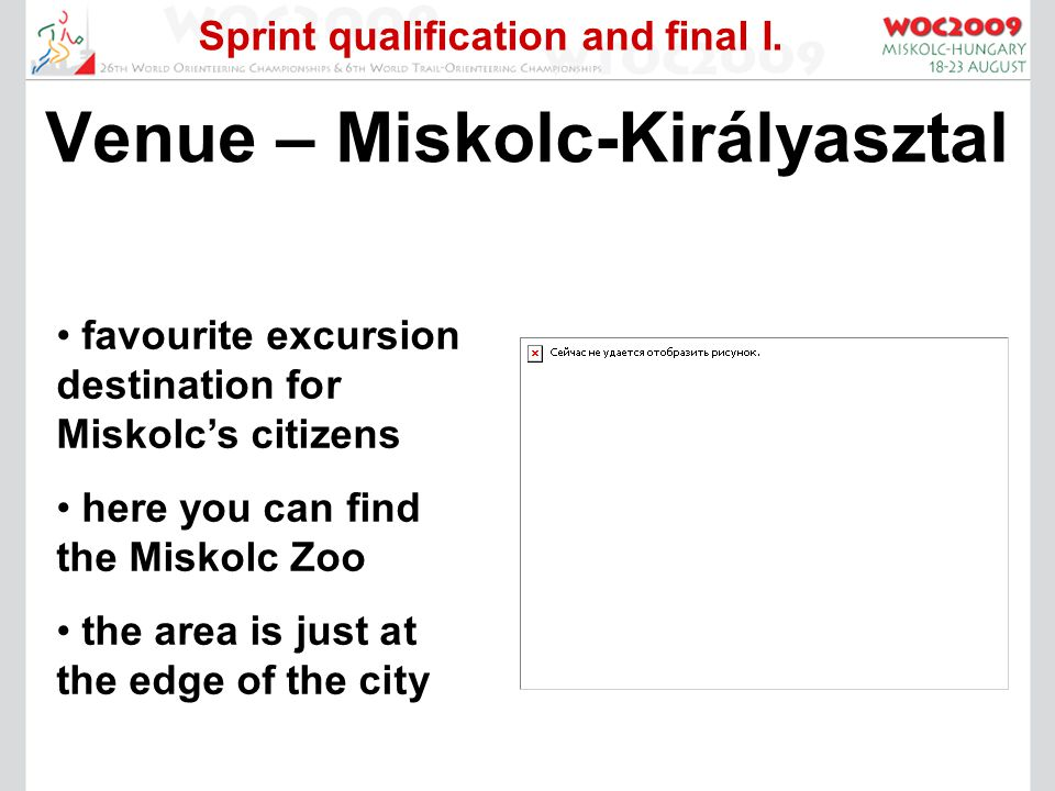 Sprint qualification and final I.