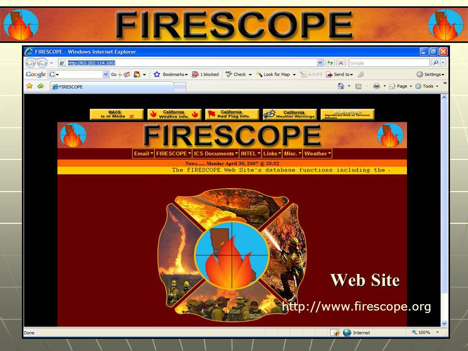 Web Site http://www.firescope.org