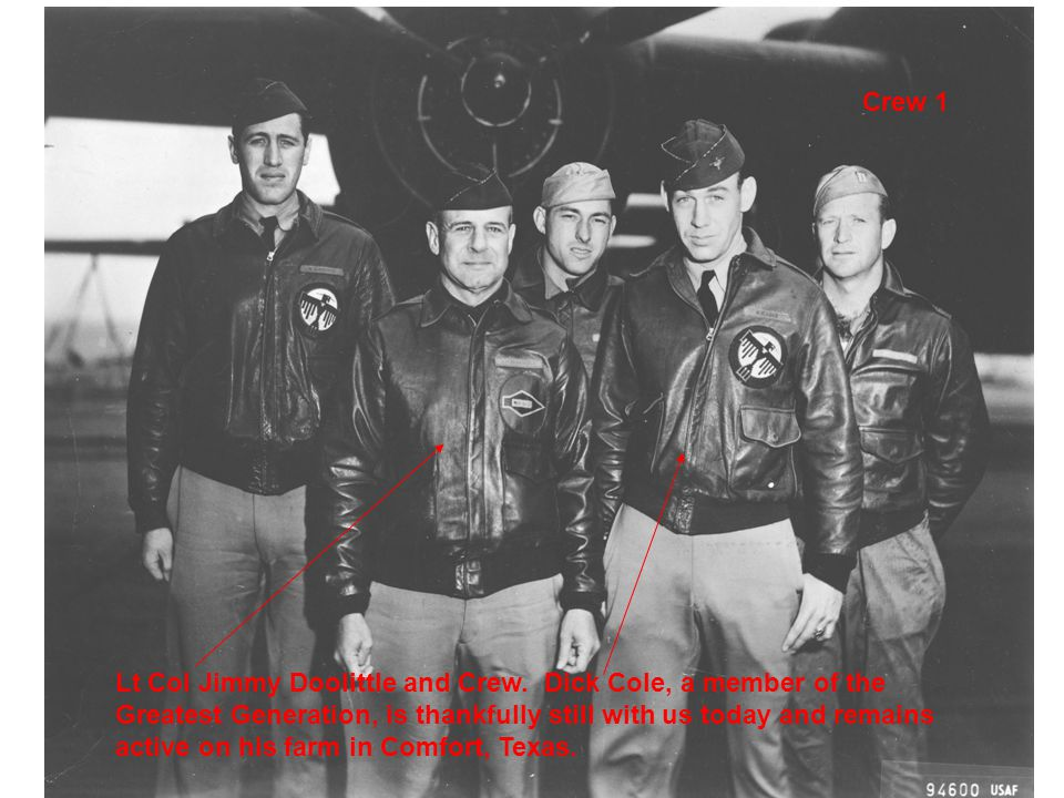 Crew 1 Lt Col Jimmy Doolittle and Crew.