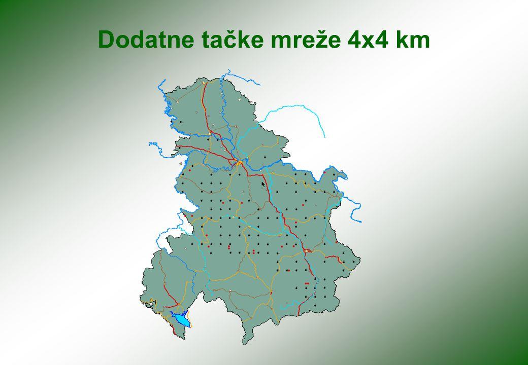 Dodatne tačke mreže 4x4 km