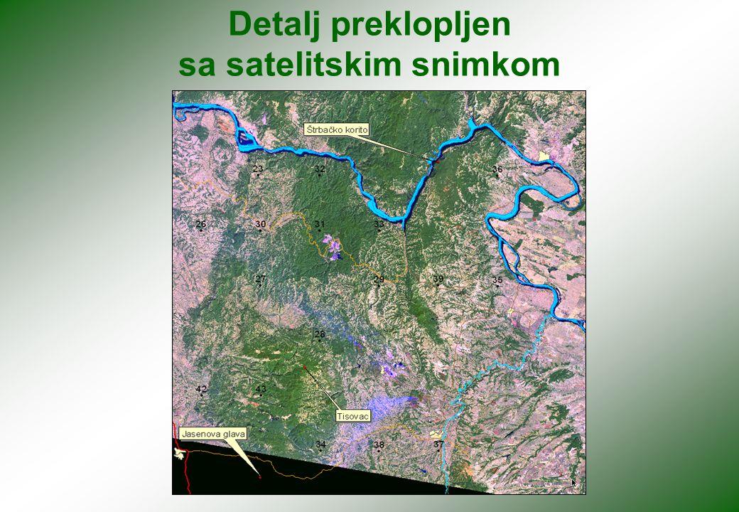 Detalj preklopljen sa satelitskim snimkom