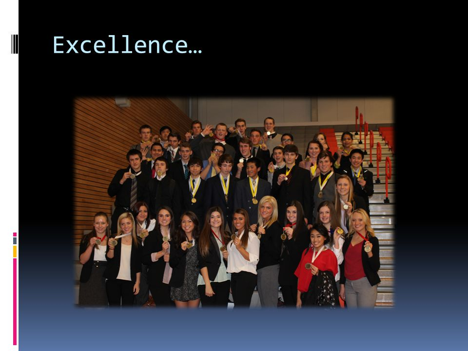 Excellence…