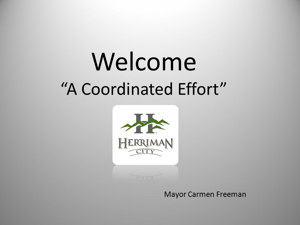 Welcome A Coordinated Effort Mayor Carmen Freeman