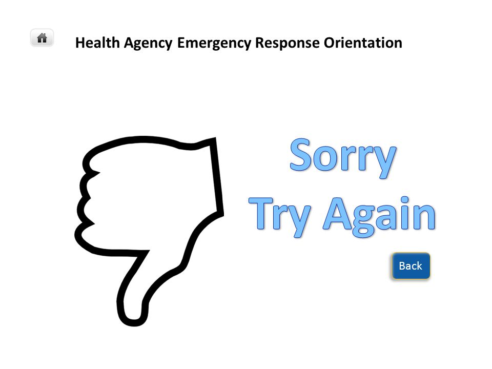 Health Agency Emergency Response Orientation Next