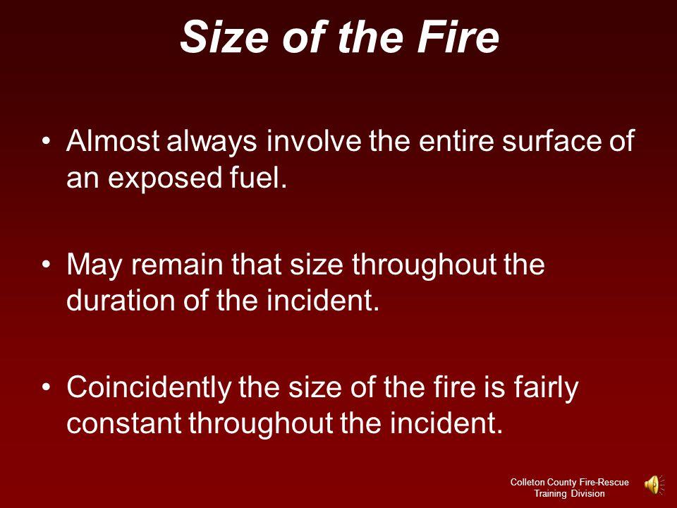 Colleton County Fire-Rescue Training Division Principals of Class B Fire Attack.