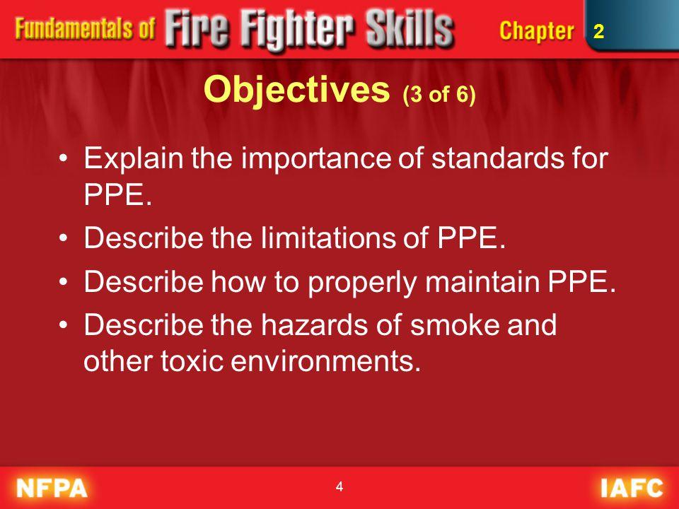 85 Wildland Fires –PPE must meet NFPA 1977.