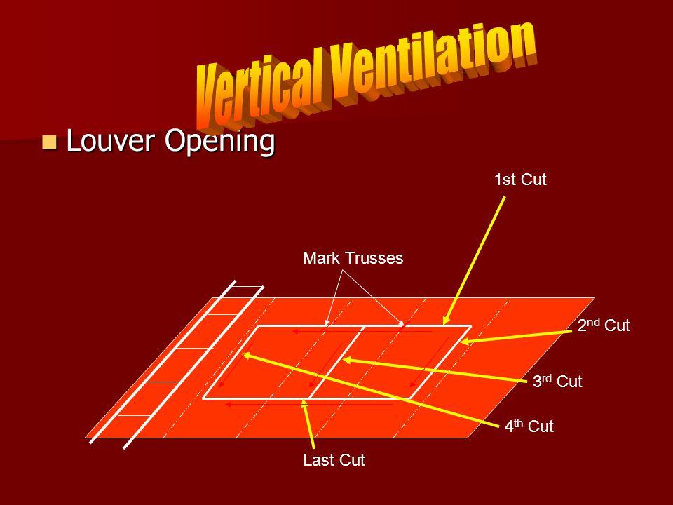 Louver Opening Louver Opening 1st Cut Mark Trusses 2 nd Cut 3 rd Cut 4 th Cut Last Cut