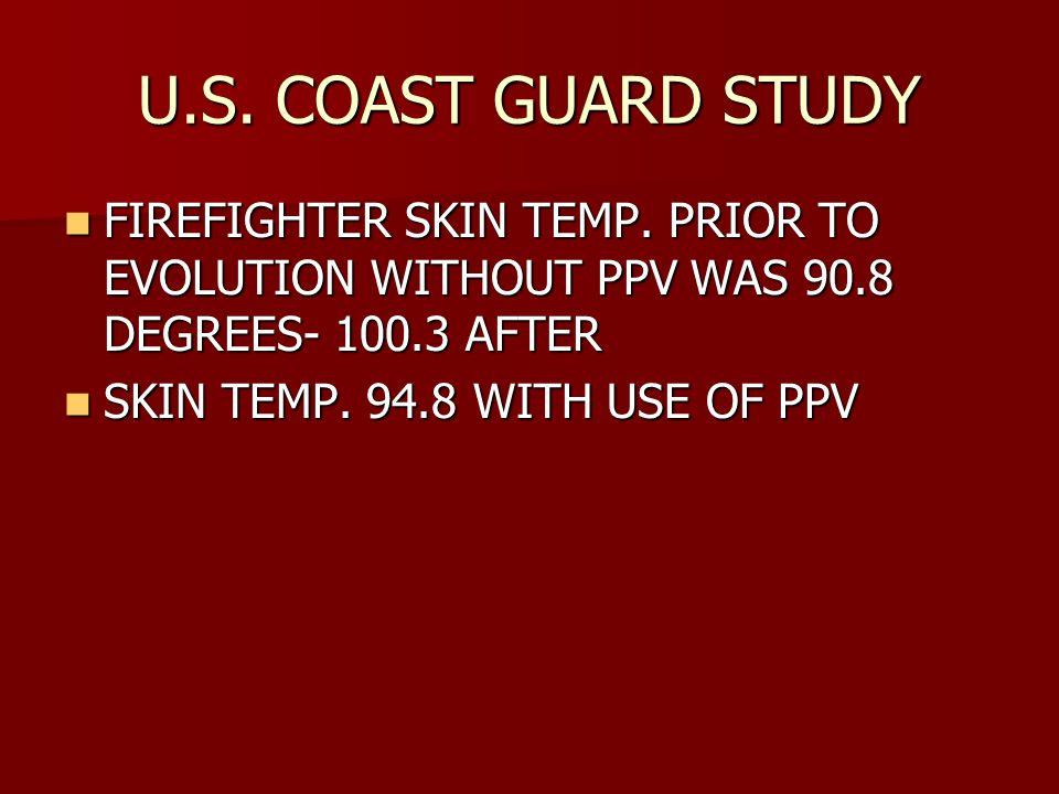 U.S. COAST GUARD STUDY FIREFIGHTER SKIN TEMP.