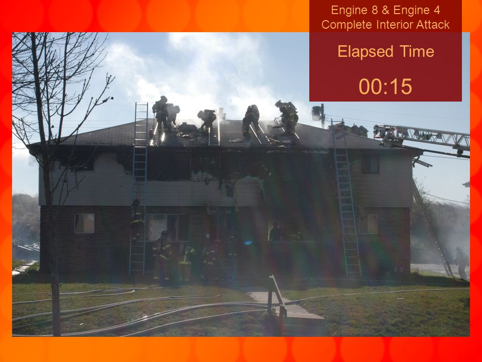Engine 8 & Engine 4 Complete Interior Attack Elapsed Time 00:15