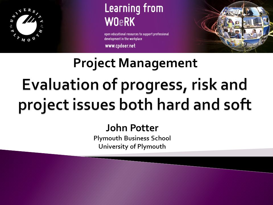 This resource was created by the University of Plymouth, Learning from WOeRk project.