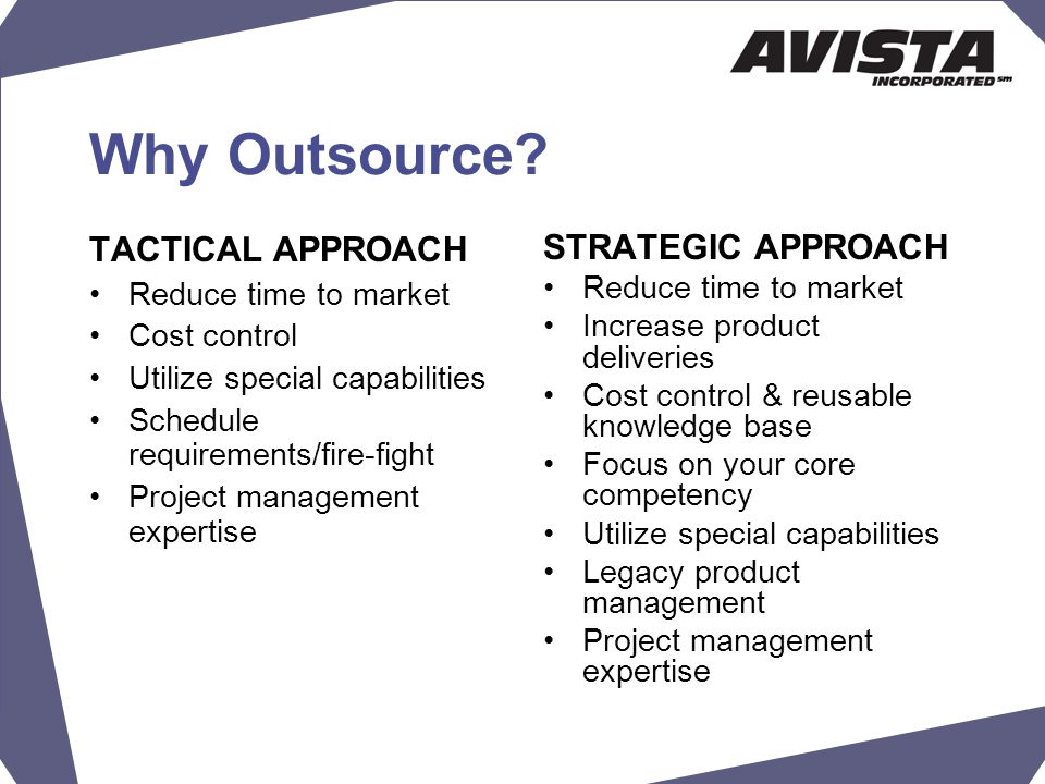 Why Outsource.