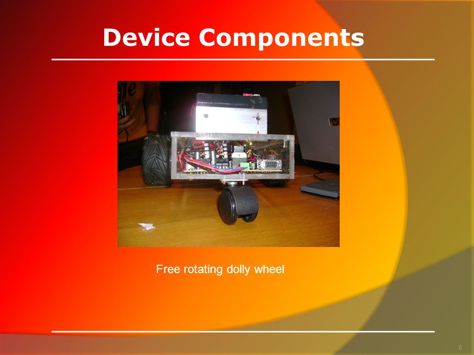 Device Components 6 Free rotating dolly wheel