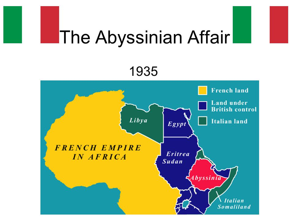 The Abyssinian Affair 1935