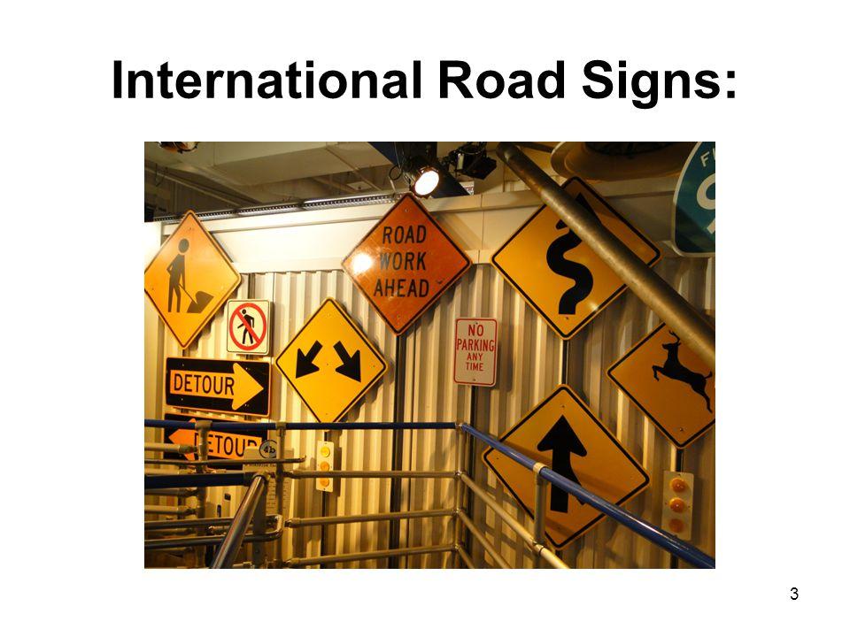 International Road Signs: 3