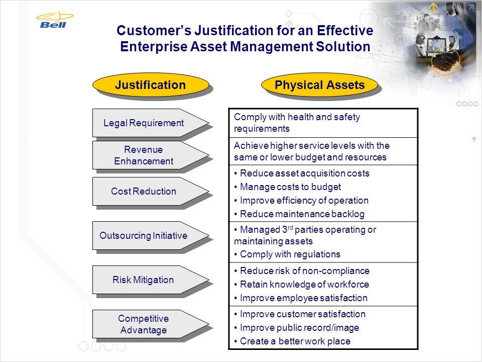 Wireless Enterprise Asset Management (EAM) Solution  Applies enterprise mobility to the EAM process to improve productivity.