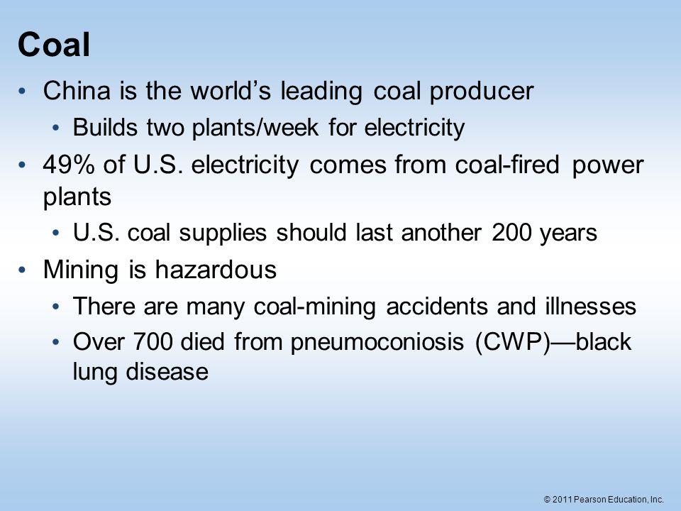 © 2011 Pearson Education, Inc.Energy flow Transportation equals 29% of U.S.