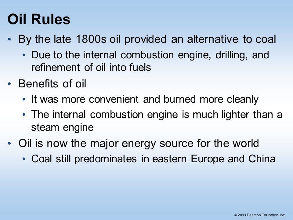 © 2011 Pearson Education, Inc.Crude oil reserves vs.