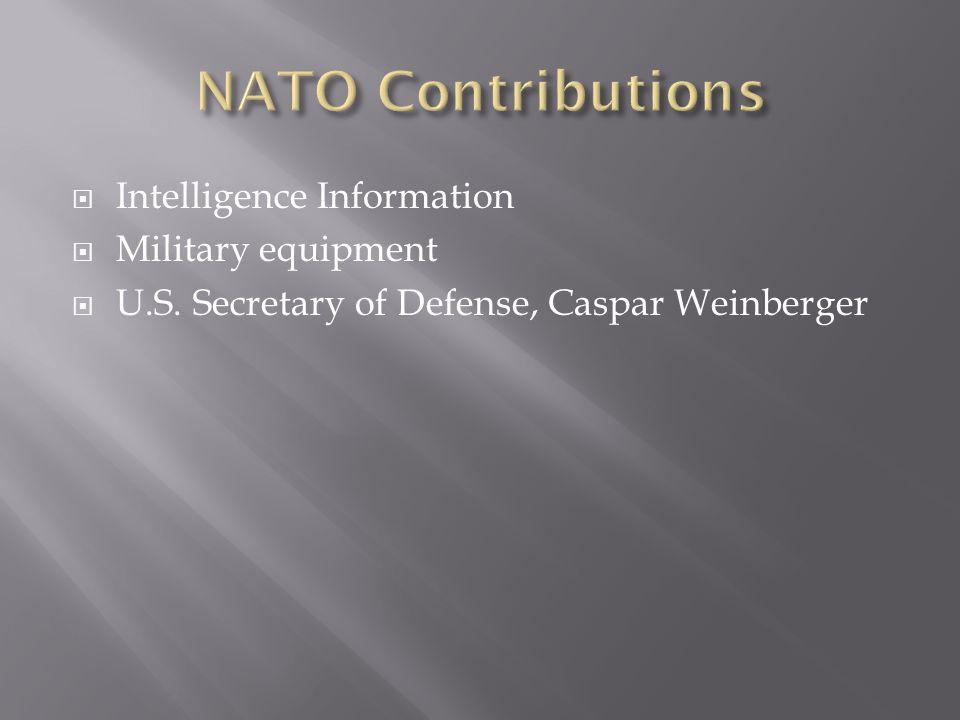  Intelligence Information  Military equipment  U.S. Secretary of Defense, Caspar Weinberger