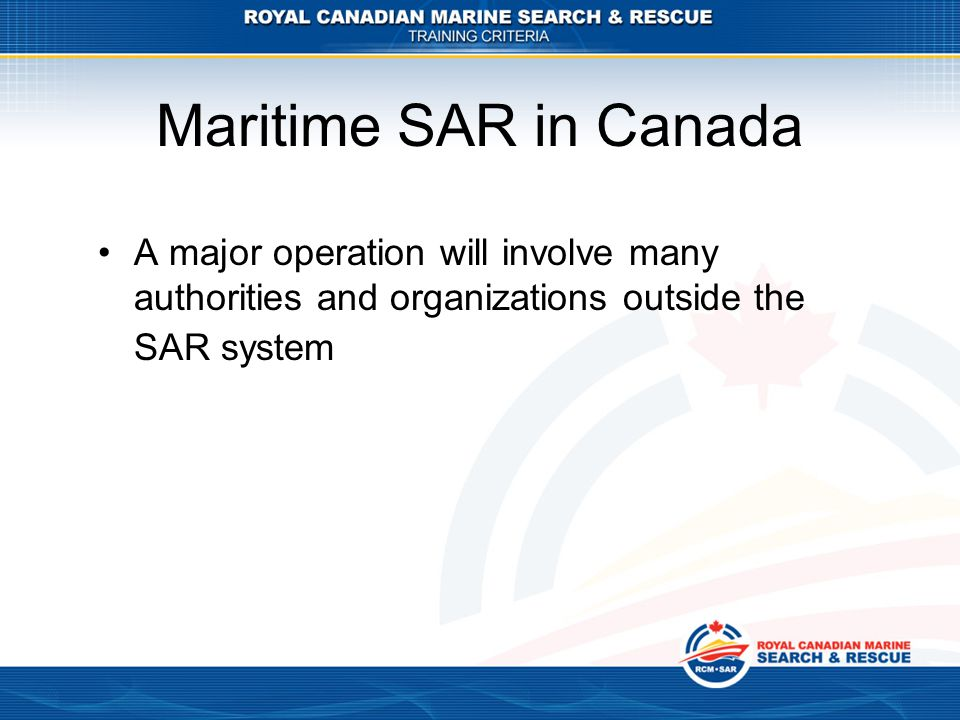 What Has Canada Done To Prepare (Continued) Canadian Forces /Canadian Coastguard Project Team updated Major Marine Disaster Plans A review of the Command and Control framework Regular exercises