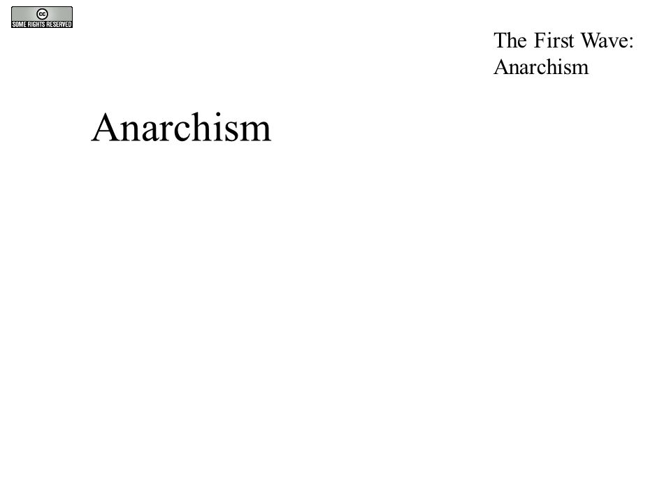 Anarchism The First Wave: Anarchism