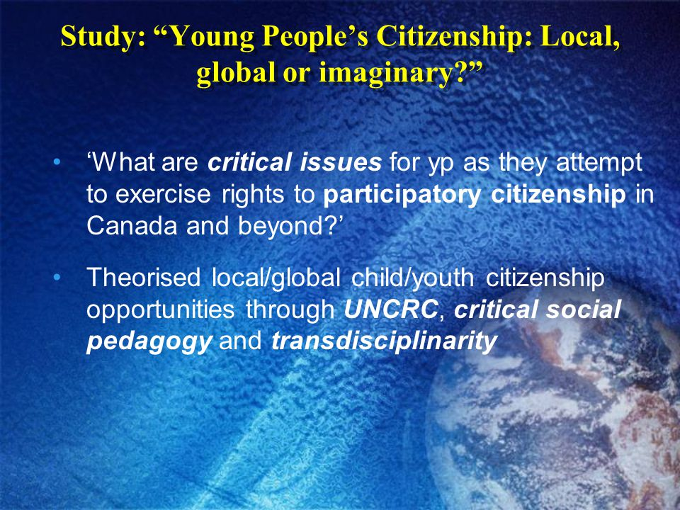 Brock 'global citizenship' rally with child rights activist