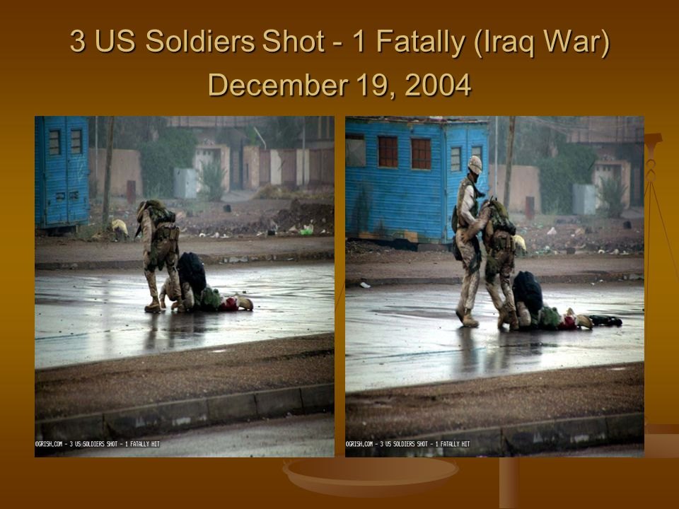 3 US Soldiers Shot - 1 Fatally (Iraq War) December 19, 2004