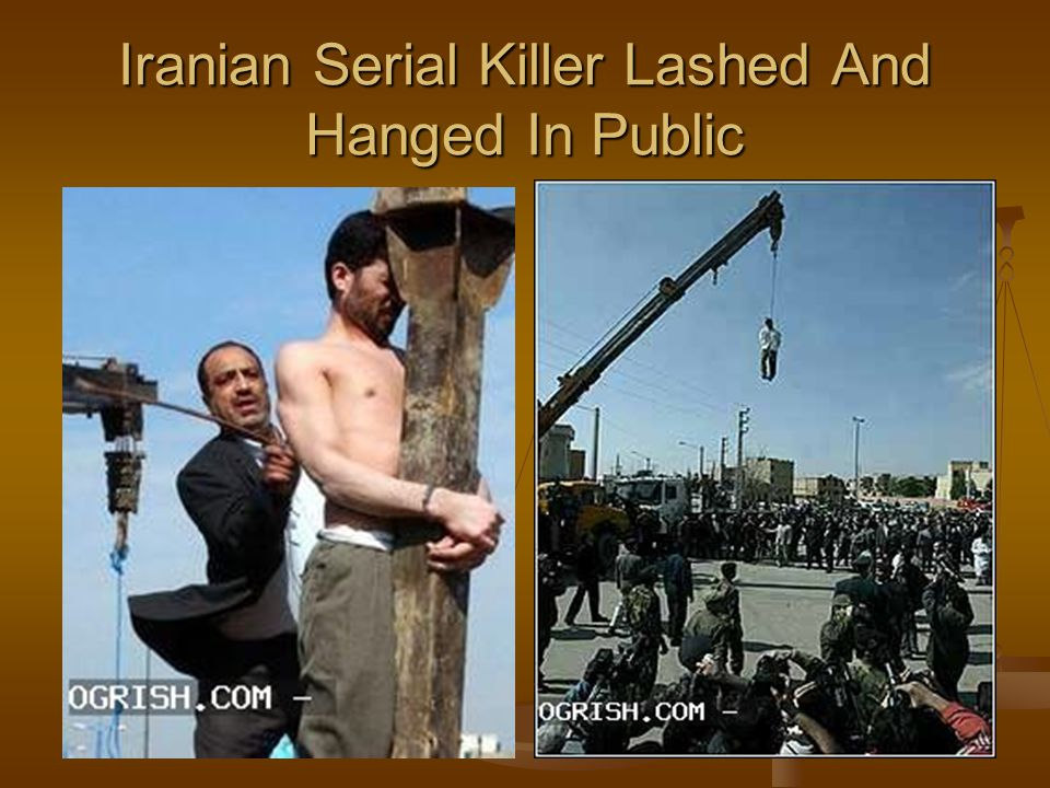 Iranian Serial Killer Lashed And Hanged In Public