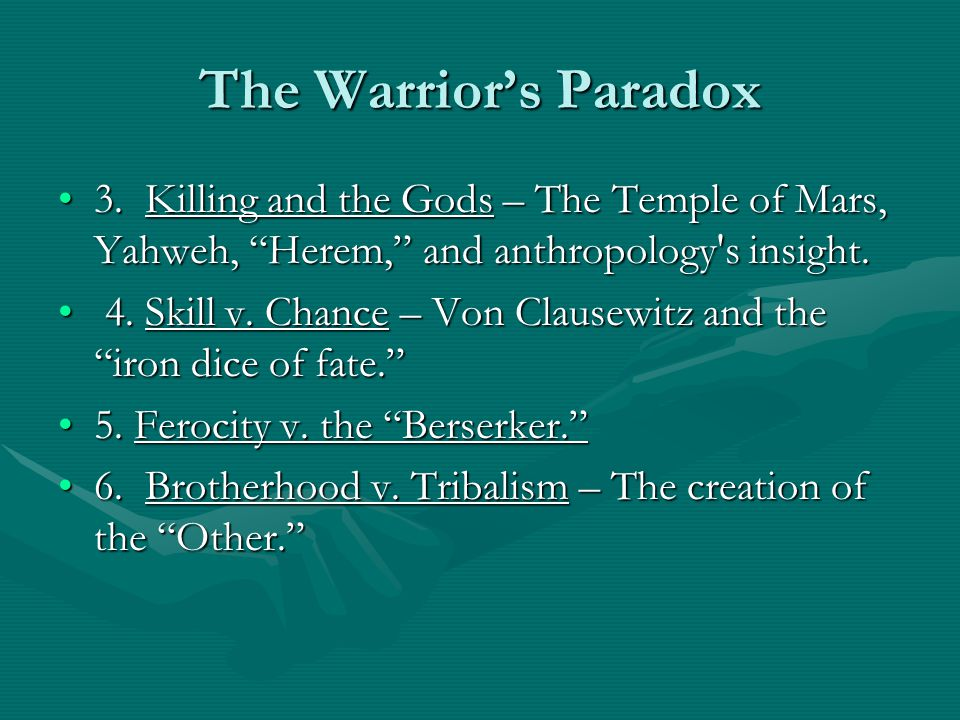"""The Warrior's Paradox 3. Killing and the Gods – The Temple of Mars, Yahweh, """"Herem,"""" and anthropology's insight.3. Killing and the Gods – The Temple o"""