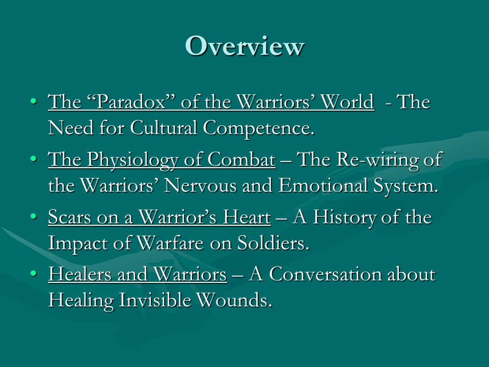 Healers and Warriors Normalizing the combat experienceNormalizing the combat experience An abnormal response, to an abnormal situation, is normal behavior. Victor Frankl An abnormal response, to an abnormal situation, is normal behavior. Victor Frankl Combat reflexes will normally decay with time to a greater or lesser degree.Combat reflexes will normally decay with time to a greater or lesser degree.