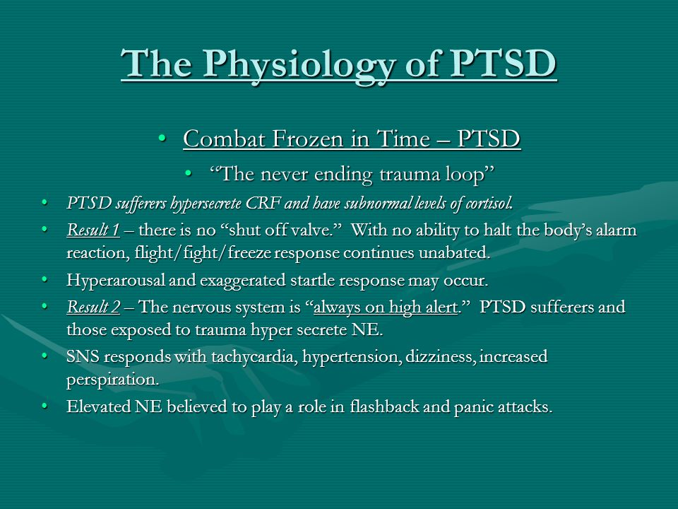 """The Physiology of PTSD Combat Frozen in Time – PTSDCombat Frozen in Time – PTSD """"The never ending trauma loop""""""""The never ending trauma loop"""" PTSD suff"""