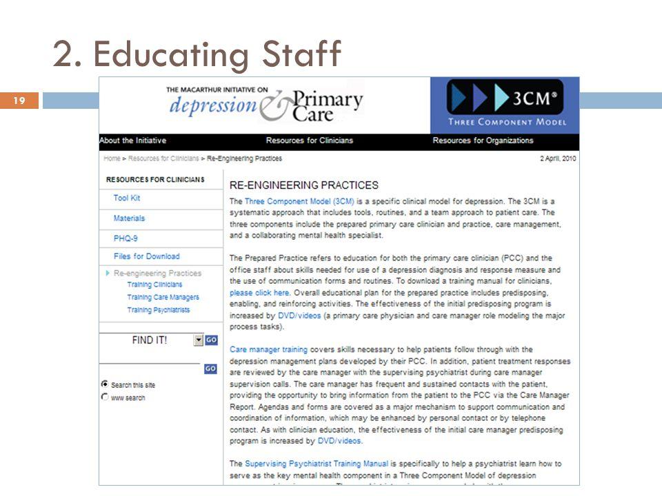 2. Educating Staff 19