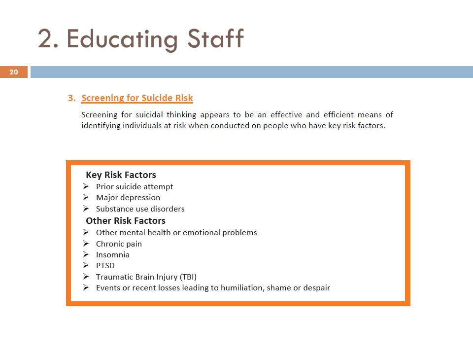 2. Educating Staff 20
