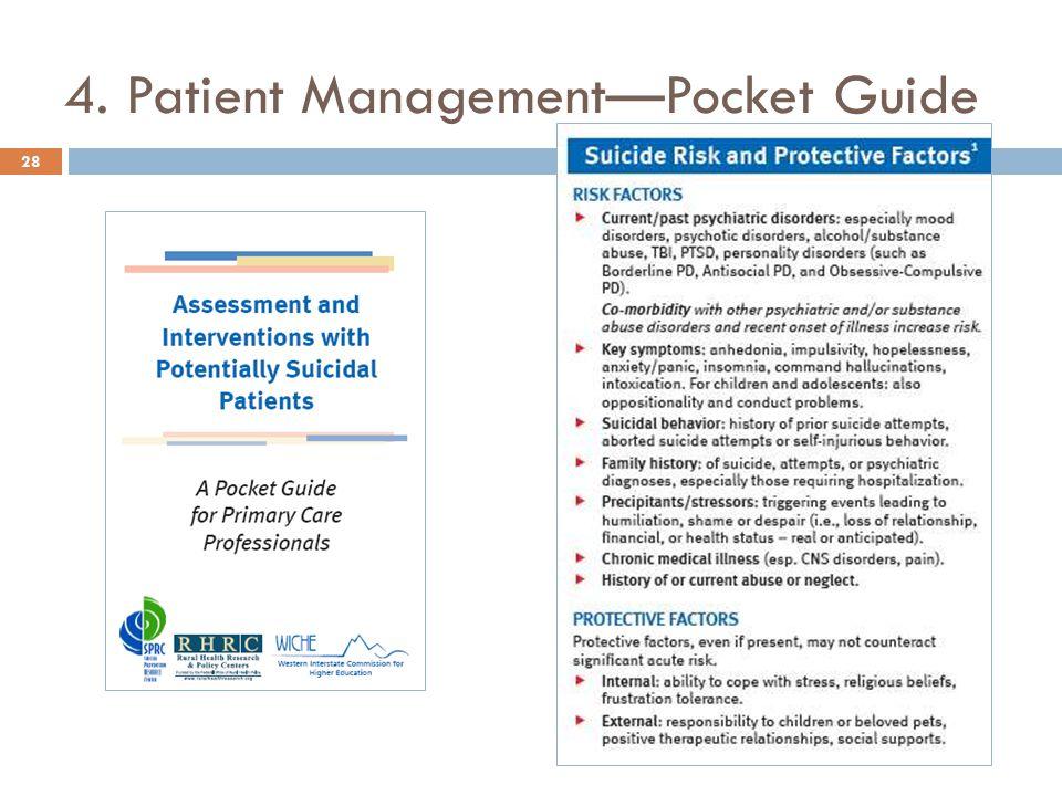 4. Patient Management—Pocket Guide 28