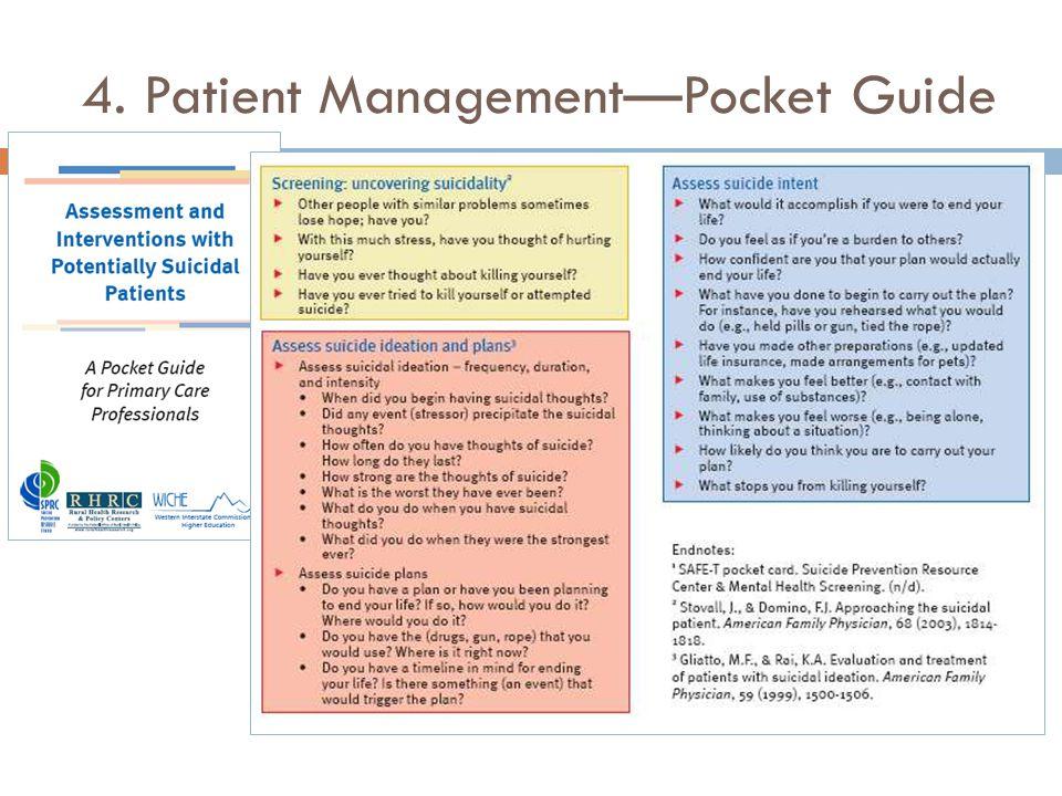 4. Patient Management—Pocket Guide 29