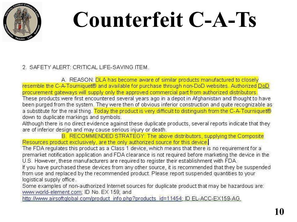 10 Counterfeit C-A-Ts